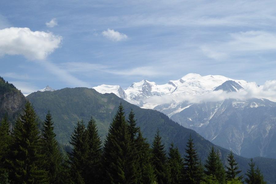 Herrliche Aussicht auf den Mont-Blanc
