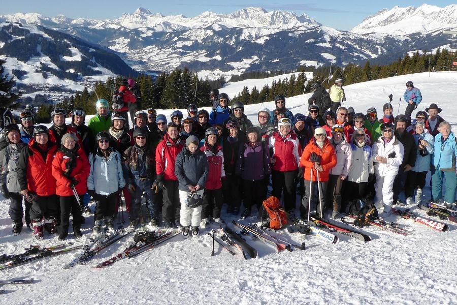 Immer gut gelaunt waren die über 50 Teilnehmer der Skifreizeit 2016