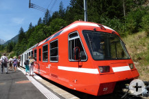 Einstieg in den Mont-Blanc-Express