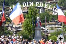 Nationalfeiertag in St.-Gervais, am Gefallenendenkmal