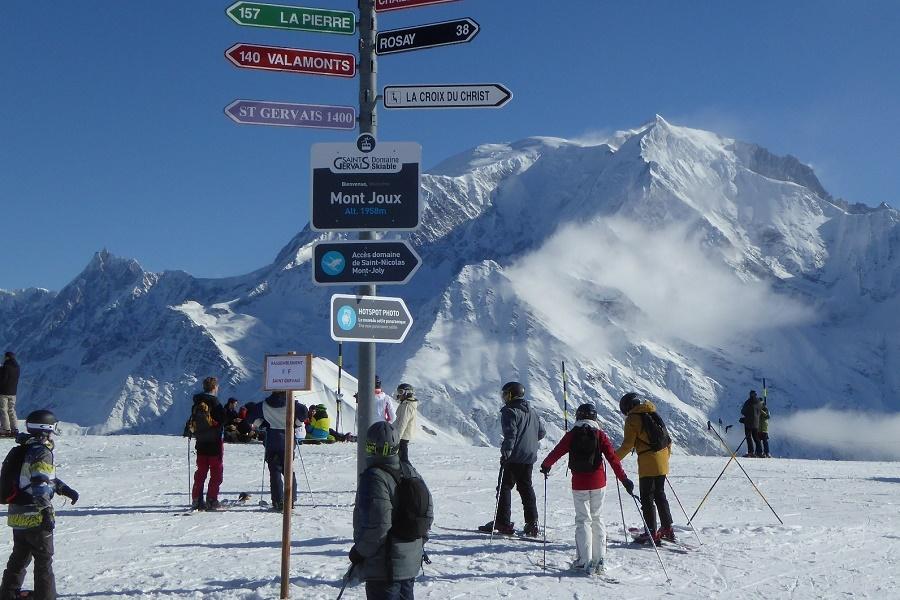 Herrliche Sicht auf den Mont-Blanc