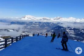 Wunderbare Pisten gibt es in den Skigebieten von Les Contamines und Saint-Gervais