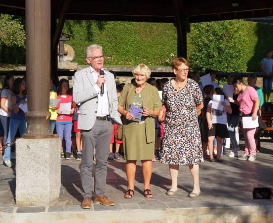 Bürgermeister Jean-Marc Peillex, Aline Gnemmi, Véronique Foumont