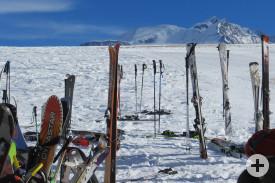Wer könnte da noch über das Wetter meckern, wenn sich der Mont-Blanc im Hintergrund zeigt?