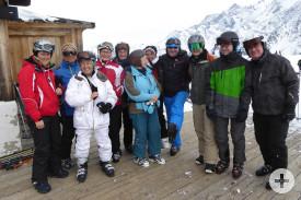 Patrick und seine lustige Skigruppe