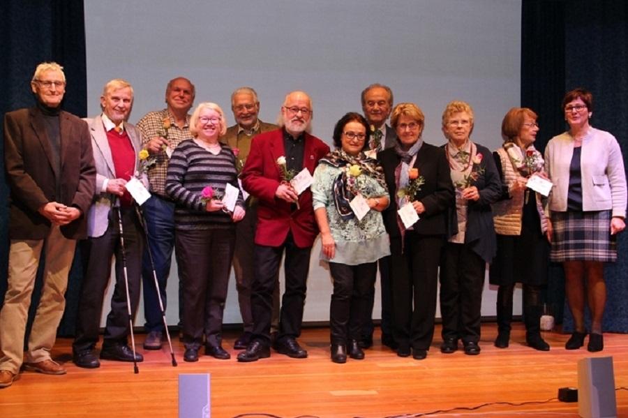Mitglieder, die dem Verein seit dem Gründungsjahr die Treue halten, wurden geehrt