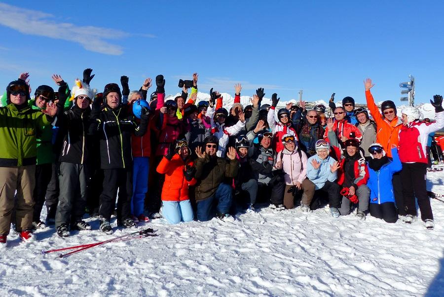 Gruppenbild im Schnee