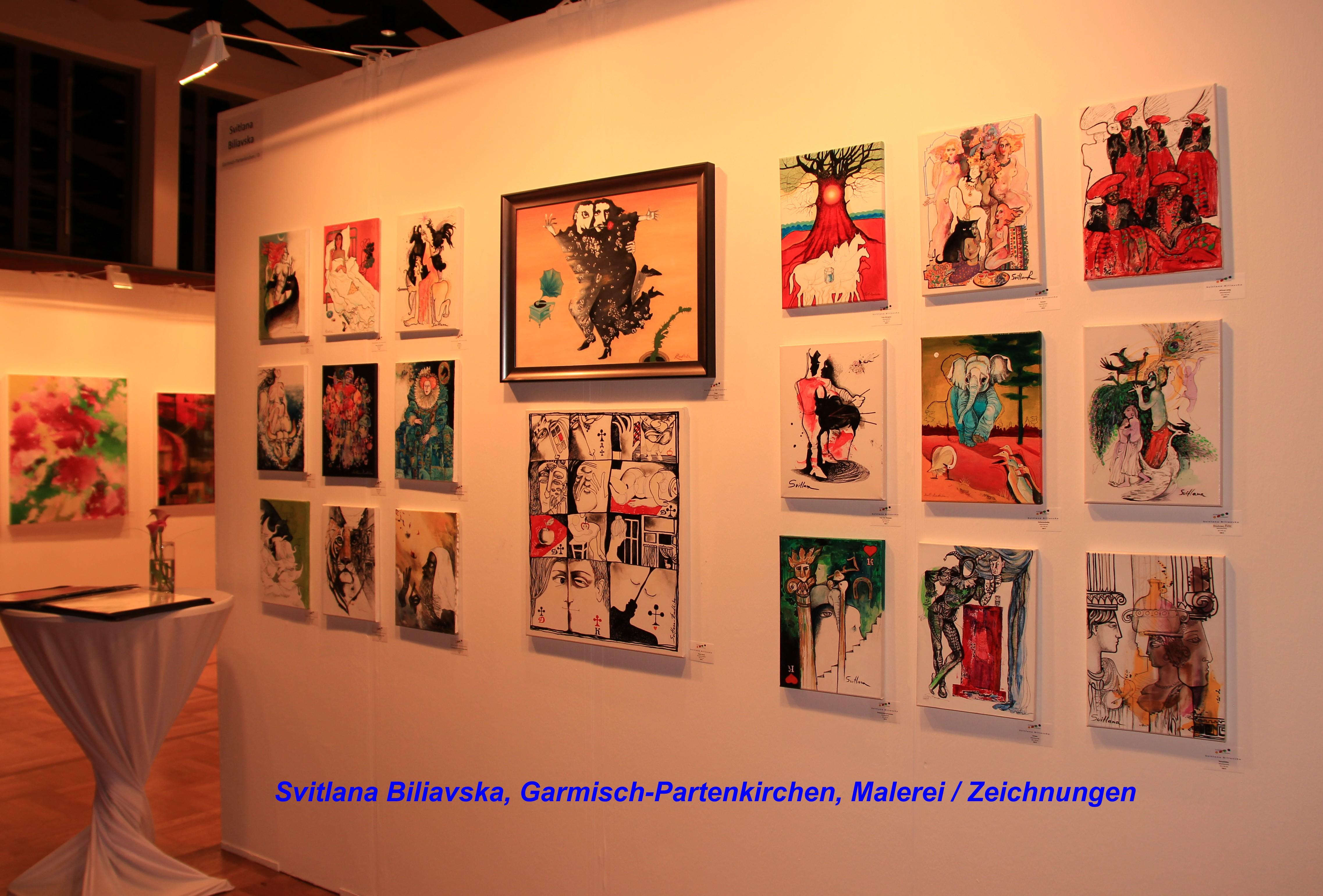 Svitlana Biliavska, Garmisch-Partenkirchen, Malerei / Zeichnungen
