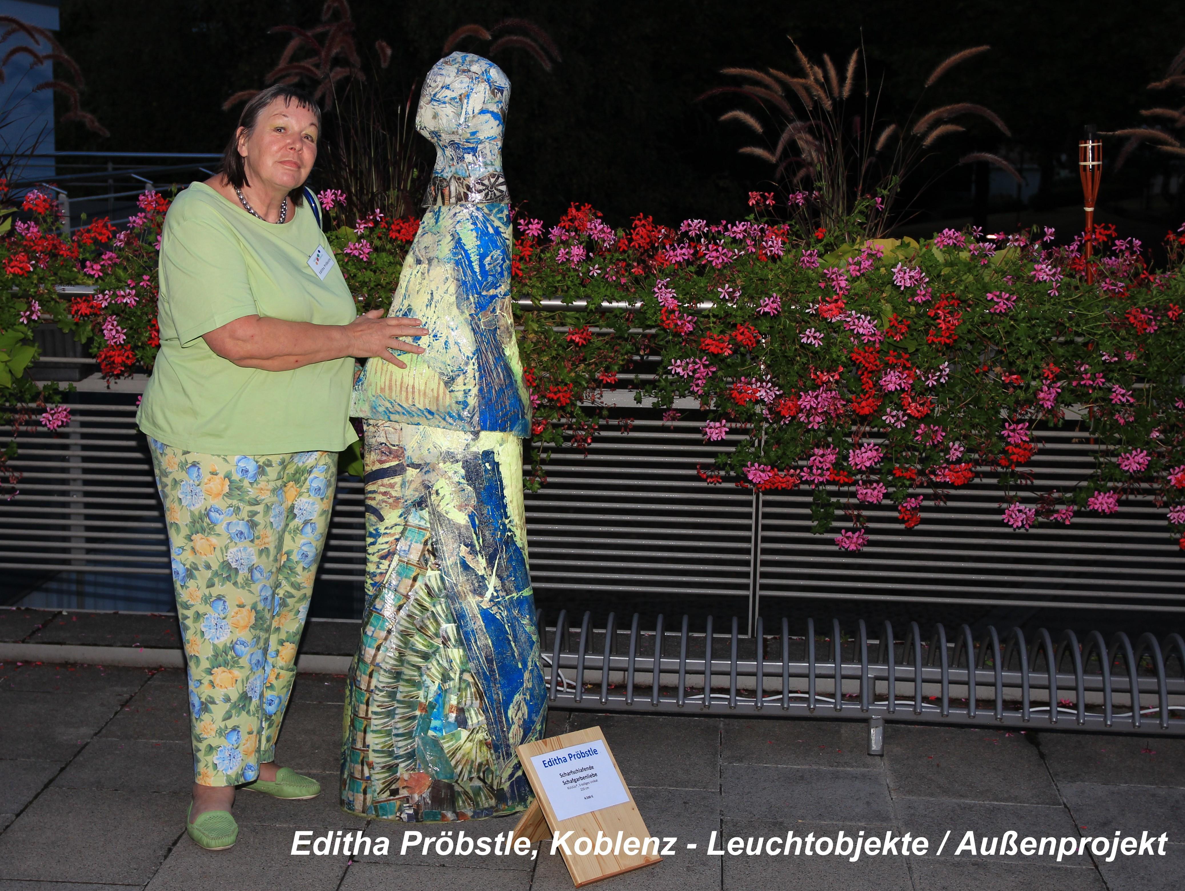 Editha Pröbstle, Koblenz - Leuchtobjekte / Außenprojekt