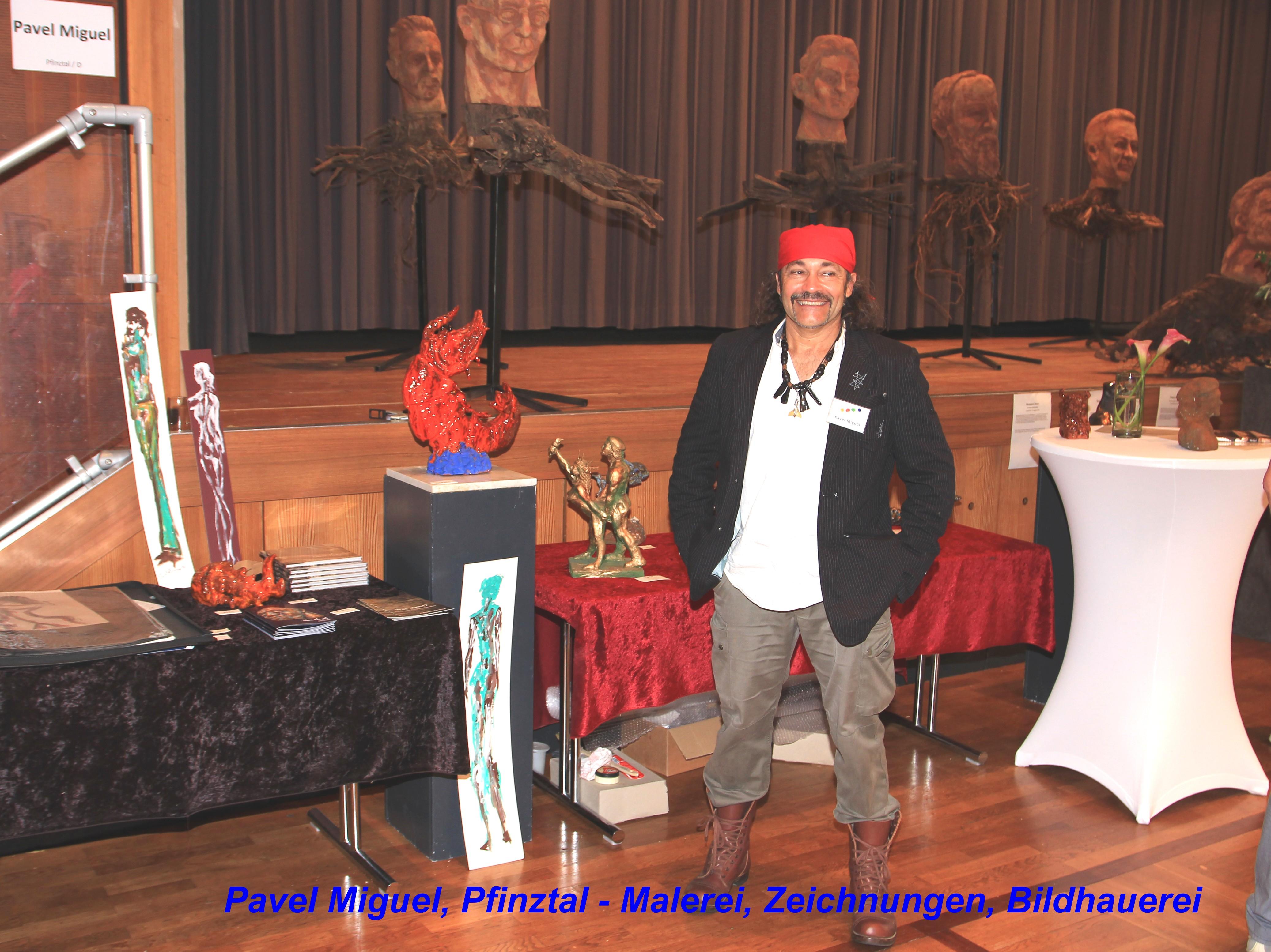 Pavel Miguel, Pfinztal - Malerei, Zeichnungen, Bildhauerei