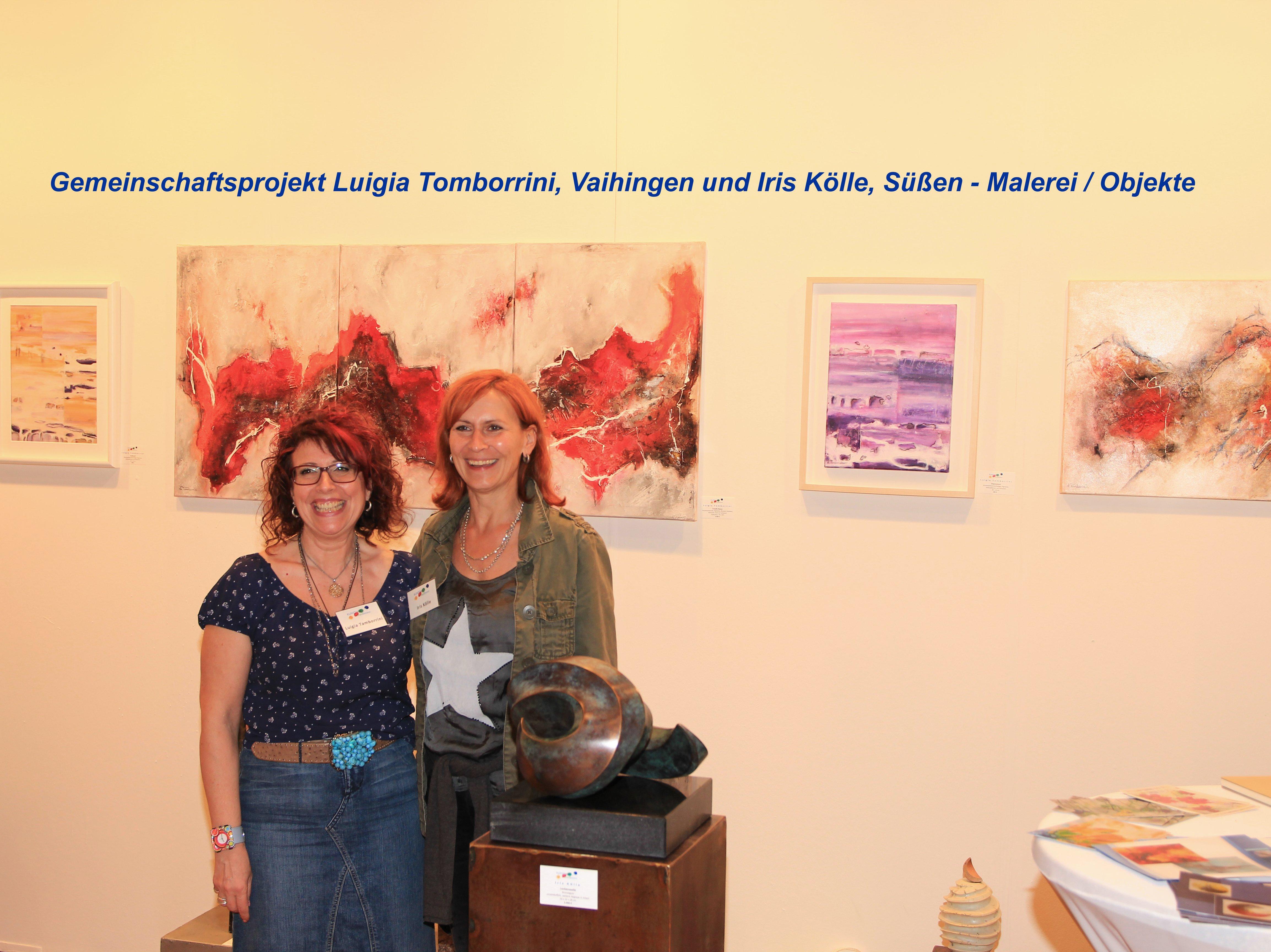 Gemeinschaftsprojekt Luigia Tamborrini, Vaihingen und Iris Kölle, Süßen - Malerei / Objekte