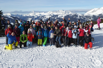 Gut gelaunt vor dem Skitag