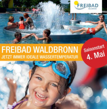 Freibad Waldbronn Eröffnung der Badesaison