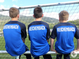 U12-Jugendfußballer des TSV Reichenbach in Saint Gervais