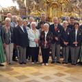 Die DRK Ortsgruppe Reichenbach reiste bereits zum 25. Mal nach Andechs zur Kerzenwallfahrt. Mit dabei: Bürgermeister Franz Masino und Pfarrer Torsten Ret.