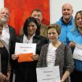 Bei der Spendenübergabe (v.l.): Michaela Masino, Bürgermeister Franz Masino, Uschi und Dietmar Reiser, Irma Nussbaumer sowie Christine und Achim Völkle.