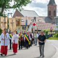 Rund 400 Gläubige aus allen Gemeinden der Seelsorgeeinheit waren zum Gottesdienst und zur anschließenden Prozession gekommen.    (Bilder: Mirjam Bartberger)