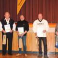 Ehrungen beim MSC Reichenbach: Alois Heipek (1. Vorsitzender), Daniel Fröscher, Kurt Liebich, Raimund Anderer, Rolf Schwarz, Siglinde Reiser, Stefano Pannone (2. Vorsitzender) v.l.
