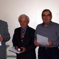Bild Ehrungen: v.l. Vorsitzender Eugen Rudolf, Franz Becker, Josef Breinlinger und Kreisvorsitzender Norbert Schmidt.