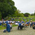 Der Musikverein Lyra Reichenbach spielte am vergangenen Sonntag am Kurparksee.