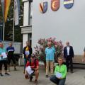 Die Gewinner des ersten Waldbronn STADTRADELN gemeinsam mit Bürgermeister Franz Masino.   Bild: Gemeinde Waldbronn