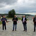 Die offizielle Freigabe des Baugebietes Rück II.   Bild: Gemeinde Waldbronn