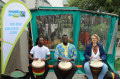 Eine Trommelgruppe unterstützte den Aktionstag musikalisch.