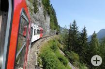 Der Mont-Blanc Express unterwegs