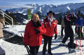 Auch unsere Fußgänger Marianne und Wilhelm genießen den Schnee