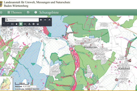 Schutzgebiete Waldbronn