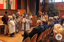 Ein besonderer Besuch: Die Sternsinger schauten beim Neujahrsempfang vorbei und erfreuten die Gäste mit Gedichten und Liedern.