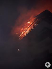 Dachstuhlbrand in der Gartenstraße.