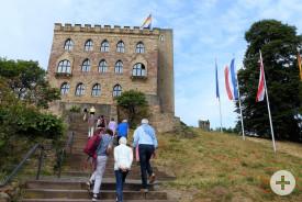 Das Hambacher Schloss war unser erste Ziel