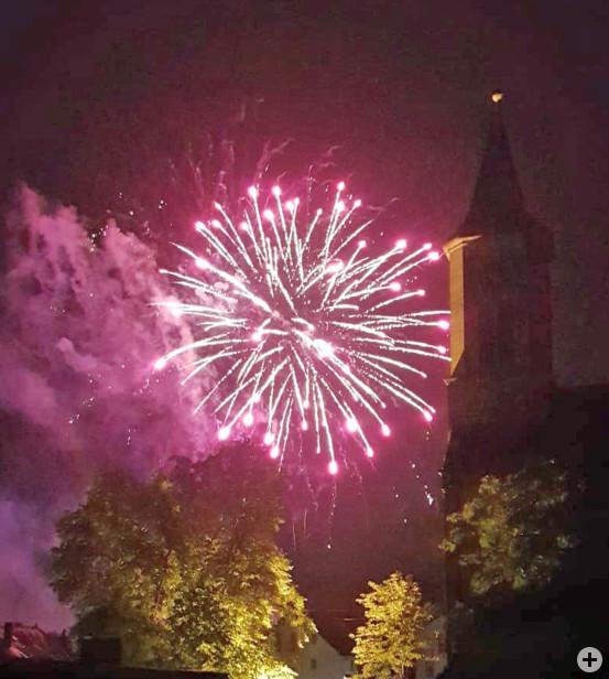 Das große Feuerwerk am Samstagabend.