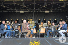 Der Musikverein Etzenrot spielte am Sonntag.