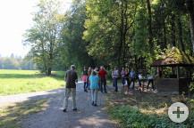 Im Wanderpavillion trafen die Waldbronner auf die Karlsbader Wanderer.
