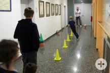 Viel Spaß hatten die Kinder beim Fußball-Parcours.