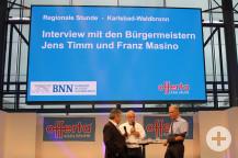 Bürgermeister Franz Masino und Jens Timm im Interview.