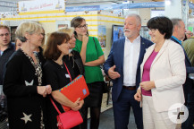 Bürgermeister Masino gemeinsam mit Bruchsals Oberbürgermeisterin Petzold-Schick.