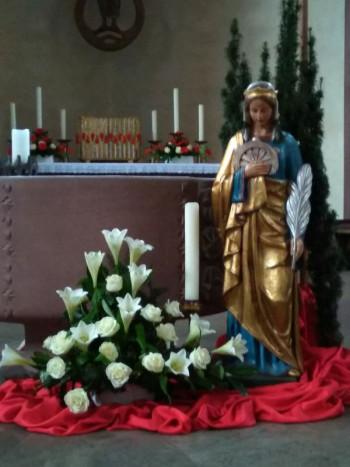Alte Zeitdokumente finden Sie an der Infotafel in der Pfarrkirche St. Katharina Busenbach.