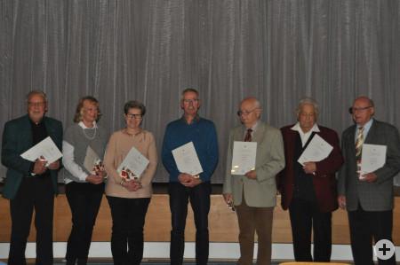 Ehrungen bei der Kolpingsfamilie Reichenbach für 25 und 65 Jahre Mitgliedschaft