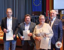 Auf dem Neujahrsempfang der Gemeinde sind drei Waldbronner Bürger mit der Bürgermedaille der Gemeinde ausgezeichnet worden.