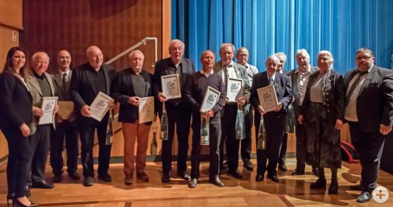 Die Geehrten vom Musikverein Busenbach.