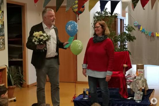Bürgermeister Franz Masino verabschiedete Doris Trentl in den wohlverdienten Ruhestand.