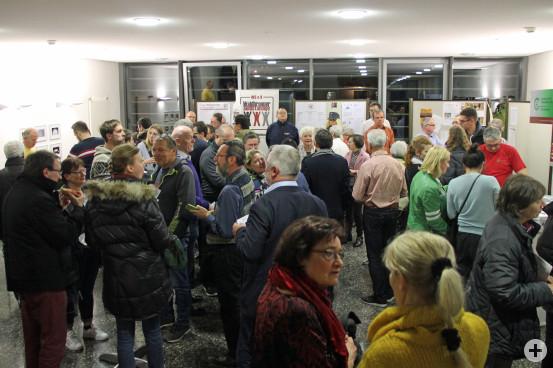 Neubürgerempfang im Foyer des Rathauses.