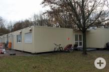Die Systembauten am St.Josef Kindergarten werden weiter angemietet. Archivbild: Gemeinde Waldbronn