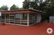 An der Ecke Einhangshalle wird die Waldschule erweitert. Bild: Gemeinde Waldbronn