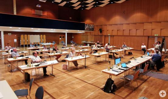 Die Gemeinderäte während der Strategieklausur im Kurhaus. Bild: Gemeinde Waldbronn