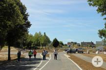 Die Technische Übergabe fand mit den zuständigen Planern und der Baufirma statt. Bild: Gemeinde Waldbronn