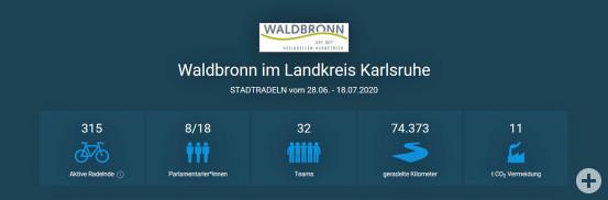 Ergebnis STADTRADELN 2020